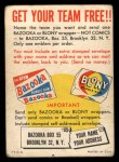 1958 Topps   Felt Team Emblems Card Back Thumbnail