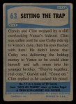 1956 Topps / Bubbles Inc Elvis Presley #63   Setting the Trap Back Thumbnail