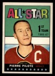 1967 Topps #122   -  Pierre Pilote All-Star Front Thumbnail