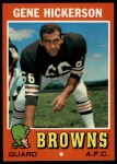 1971 Topps #36  Gene Hickerson  Front Thumbnail
