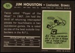 1969 Topps #121  Jim Houston  Back Thumbnail