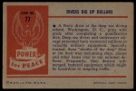 1954 Bowman Power for Peace #77   Divers Dig Up Dollars Back Thumbnail