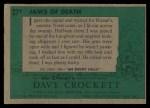 1956 Topps Davy Crockett Green Back #27   Jaws of Death  Back Thumbnail