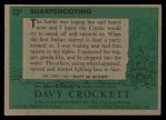 1956 Topps Davy Crockett Green Back #13   Sharpshooting  Back Thumbnail