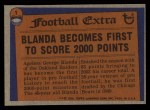 1976 Topps #1   -  George Blanda  Record Breaker Back Thumbnail