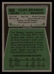 1975 Topps #524  Cliff Branch  Back Thumbnail