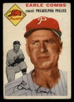 1954 Topps #183  Earle Combs  Front Thumbnail