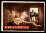 1956 Topps Davy Crockett Green Back #78   Blazing Pistols  Front Thumbnail