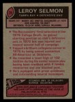 1977 Topps #29  Lee Roy Selmon  Back Thumbnail