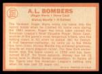 1964 Topps #331   -  Mickey Mantle / Al Kaline / Roger Maris / Norm Cash AL Bombers Back Thumbnail