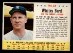 1963 Post #19  Whitey Ford  Front Thumbnail