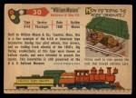 1955 Topps Rails & Sails #30   William Mason Back Thumbnail