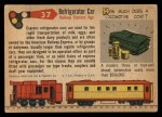 1955 Topps Rails & Sails #37   Refrigerator Car Back Thumbnail