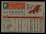 1959 Topps #181  Bob Porterfield  Back Thumbnail