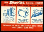 1958 Topps   Contest Card Front Thumbnail