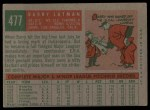 1959 Topps #477  Barry Latman  Back Thumbnail