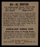 1948 Leaf #65  Al Hostak  Back Thumbnail