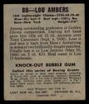 1948 Leaf #88  Lou Ambers  Back Thumbnail