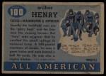 1955 Topps #100  Fats Henry     Back Thumbnail