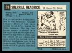 1964 Topps #99  Sherrill Headrick  Back Thumbnail