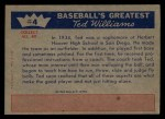 1959 Fleer #4   -  Ted Williams Learns The Fine Points Back Thumbnail