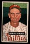 1951 Bowman #185  Jimmy Bloodworth  Front Thumbnail