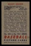 1951 Bowman #205  Mickey Grasso  Back Thumbnail
