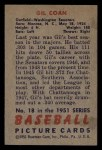 1951 Bowman #18  Gil Coan  Back Thumbnail