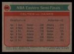 1973 Topps #63   NBA Eastern Semi-Finals Back Thumbnail