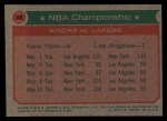 1973 Topps #68   NBA Championship Back Thumbnail