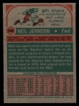 1973 Topps #188  Neil Johnson  Back Thumbnail