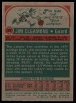 1973 Topps #29  Jim Cleamons  Back Thumbnail