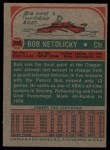 1973 Topps #256  Bob Netolicky  Back Thumbnail