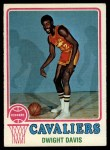 1973 Topps #104  Dwight Davis  Front Thumbnail