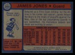 1974 Topps #260  James Jones  Back Thumbnail