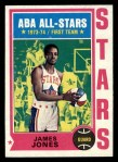 1974 Topps #260  James Jones  Front Thumbnail