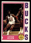 1974 Topps #19  Lucius Allen  Front Thumbnail