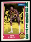 1974 Topps #254  Mike Green  Front Thumbnail