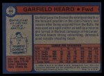 1974 Topps #44  Garfield Heard  Back Thumbnail