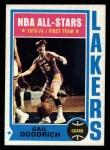 1974 Topps #120  Gail Goodrich  Front Thumbnail