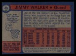 1974 Topps #45  Jimmy Walker  Back Thumbnail