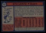 1974 Topps #101  Stu Lantz  Back Thumbnail