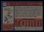 1974 Topps #155  Dave Cowens  Back Thumbnail