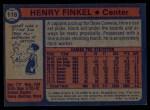 1974 Topps #118  Henry Finkel  Back Thumbnail