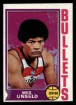 1974 Topps #121  Wes Unseld  Front Thumbnail