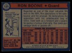 1974 Topps #195  Ron Boone  Back Thumbnail
