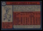 1974 Topps #103  Larry Jones  Back Thumbnail