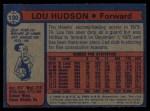 1974 Topps #130  Lou Hudson  Back Thumbnail