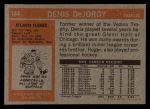 1972 Topps #144  Denis DeJordy  Back Thumbnail