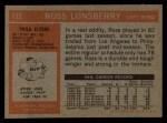 1972 Topps #112  Ross Lonsberry  Back Thumbnail